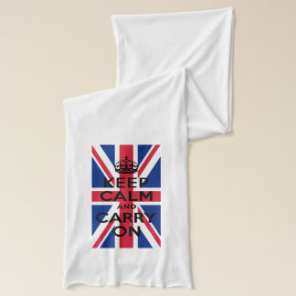 Keep Calm and Carry On with Union Jack Scarf
