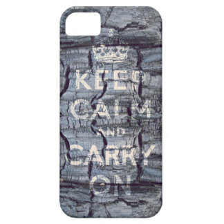 keep calm and carry on wooden grungy case for the iPhone 5