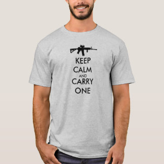Keep Calm and Carry One AR15 T-Shirt