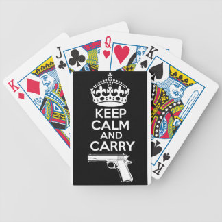 Keep Calm And Carry One Quote Poker Deck