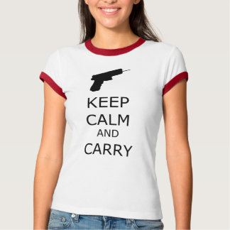 Keep Calm and Carry Ringer T-Shirt