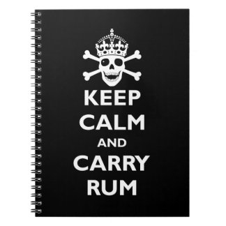Keep Calm and Carry Rum Spiral Note Book