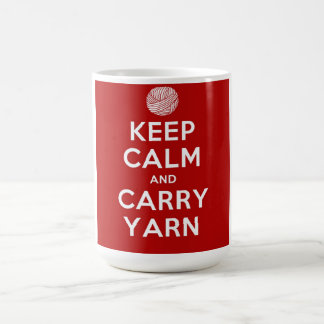 Keep Calm and Carry Yarn Coffee Mug