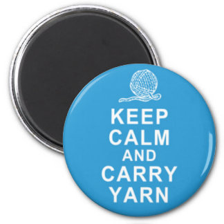Keep calm and carry yarn magent gifts refrigerator magnets