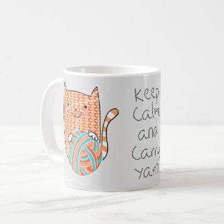 Keep Calm and Carry Yarn Mug