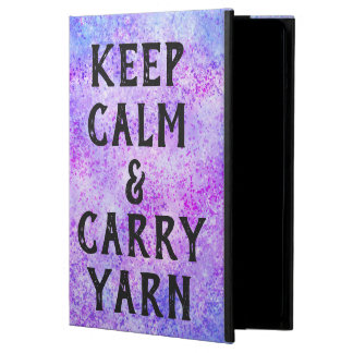 Keep Calm and Carry Yarn Purple iPad Air Case