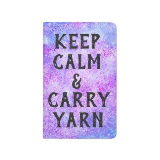 Keep Calm and Carry Yarn Purple Journal