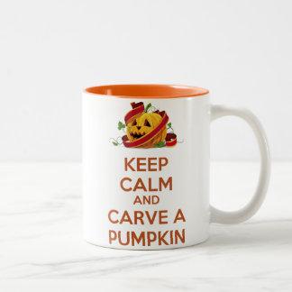 Keep Calm and carve a pumpkin Mug