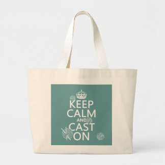 Keep Calm and Cast On - all colors Tote Bag