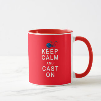 Keep Calm and Cast On Knitting Tshirt or Gift