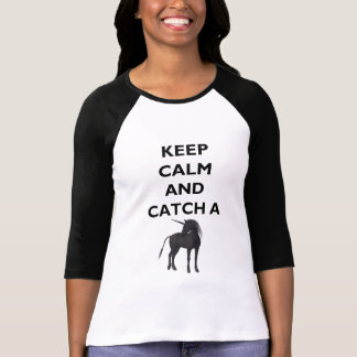 Keep Calm and Catch Unicorn Womens 3/4 Sleeve T-Shirt