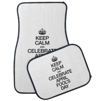 KEEP CALM AND CELEBRATE APRIL FOOL'S DAY FLOOR MAT