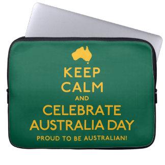 Keep Calm and Celebrate Australia Day! Computer Sleeve