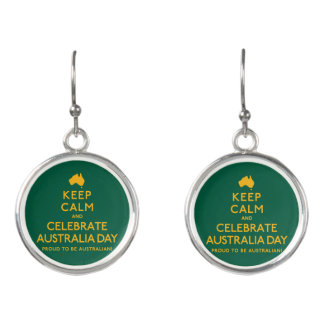 Keep Calm and Celebrate Australia Day! Earrings