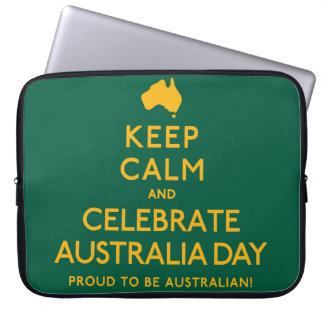 Keep Calm and Celebrate Australia Day! Laptop Computer Sleeves