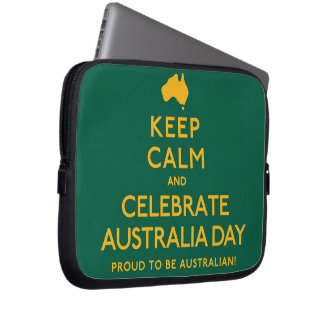 Keep Calm and Celebrate Australia Day! Laptop Sleeves