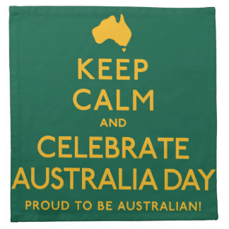 Keep Calm and Celebrate Australia Day! Napkin