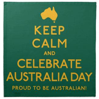 Keep Calm and Celebrate Australia Day! Napkin
