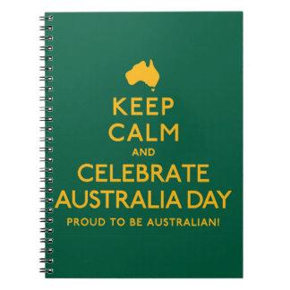 Keep Calm and Celebrate Australia Day! Notebook
