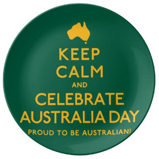 Keep Calm and Celebrate Australia Day! Plate