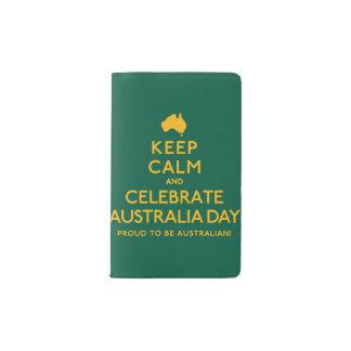 Keep Calm and Celebrate Australia Day! Pocket Moleskine Notebook