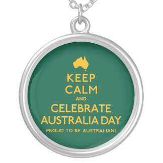 Keep Calm and Celebrate Australia Day! Silver Plated Necklace