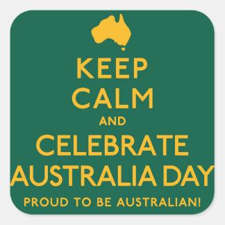 Keep Calm and Celebrate Australia Day! Square Sticker