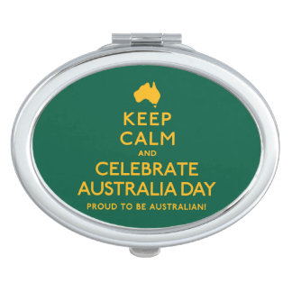 Keep Calm and Celebrate Australia Day! Travel Mirrors