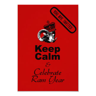 Keep Calm and Celebrate Chinese New Year 2015 9 Cm X 13 Cm Invitation Card