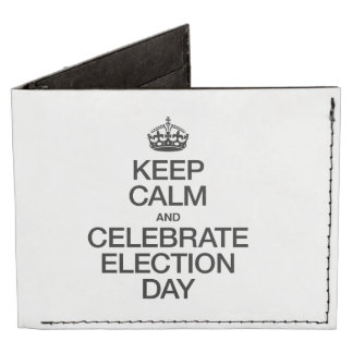 KEEP CALM AND CELEBRATE ELECTION DAY TYVEK WALLET