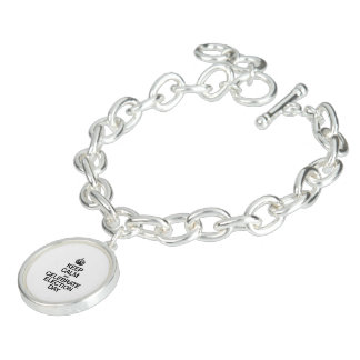 KEEP CALM AND CELEBRATE ELECTION DAY CHARM BRACELET
