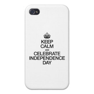 KEEP CALM AND CELEBRATE INDEPENDENCE DAY COVER FOR iPhone 4