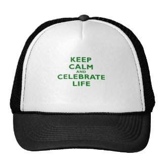 Keep Calm and Celebrate Life Hats