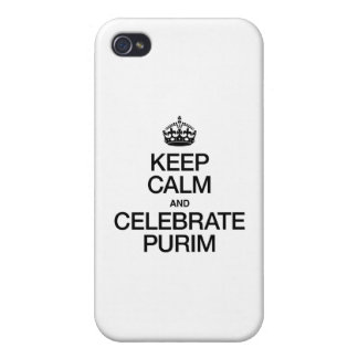 KEEP CALM AND CELEBRATE PURIM iPhone 4/4S COVERS