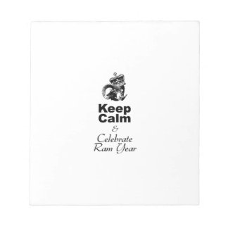 Keep Calm and Celebrate Ram Year 2015 Notepads