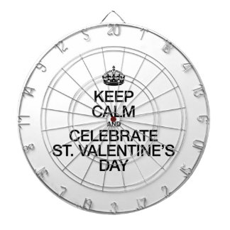 KEEP CALM AND CELEBRATE ST VALENTINES DAY DARTBOARD