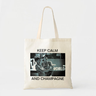 KEEP CALM AND CHAMPAGNE TOTE BAG