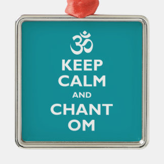 Keep Calm and Chant Om Metal Ornament