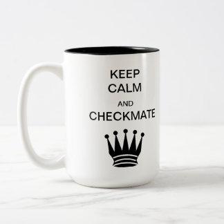 Keep Calm and Checkmate Two-Tone Mug