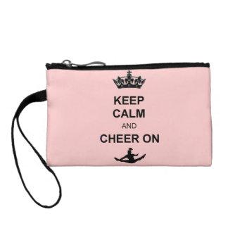 Keep Calm and Cheer Coin Purses