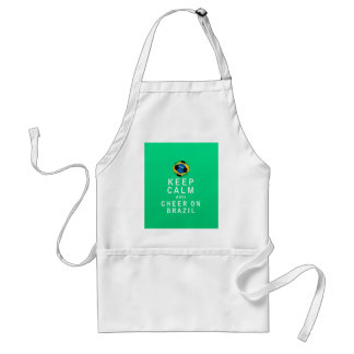 Keep Calm and Cheer On Brazil Standard Apron