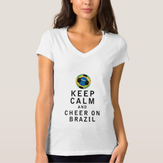 Keep Calm and Cheer On Brazil Tees