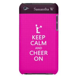 Keep Calm and Cheer On, Cheerleader Pink iPod Touch Case-Mate Case