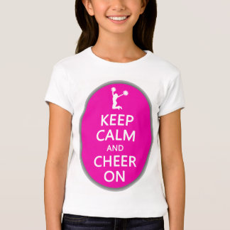 Keep Calm and Cheer On, Cheerleader Pink Tshirts