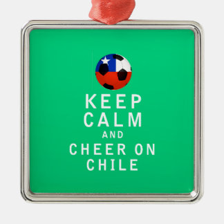 Keep Calm and Cheer On Chile Ornament