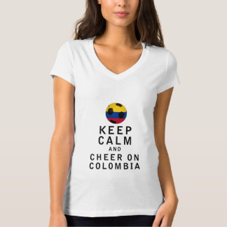 Keep Calm and Cheer On Colombia Shirt