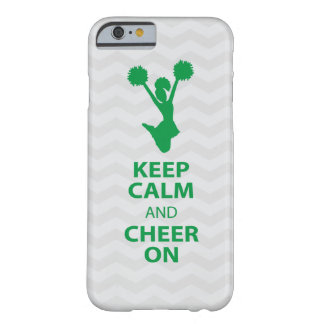 KEEP CALM and CHEER ON - GREEN - iPhone 6 case