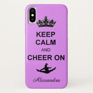 Keep Calm and Cheer on iphone X case