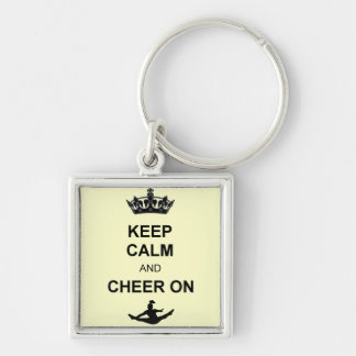 Keep calm and Cheer on Key Ring