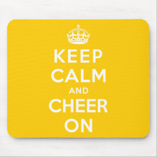 Keep Calm and Cheer On Mouse Pad